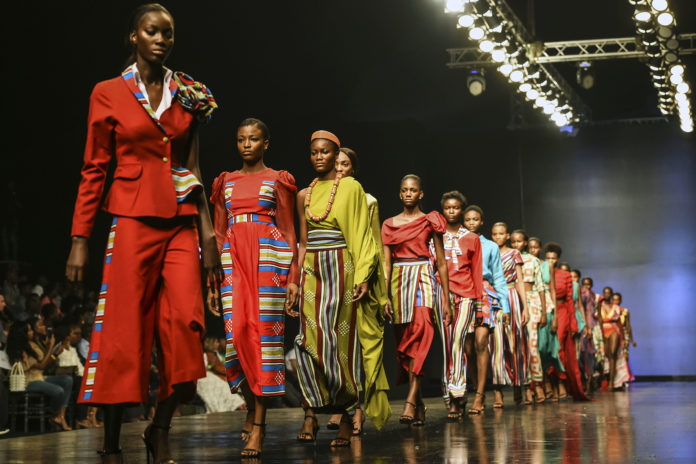 Models at Nigeria Fashion week