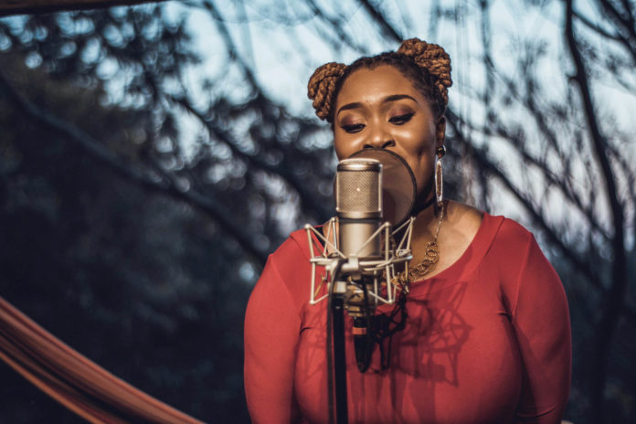 Lady Zamar performing at the JR Feel Good Live Sessions
