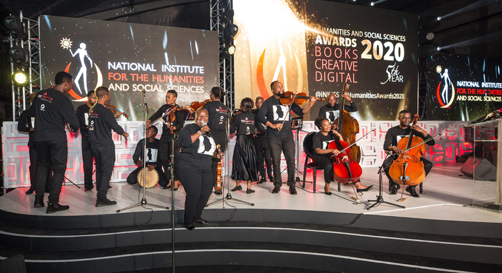 The Buskaid Soweto String Ensemble kept guests entertained at the HSS Awards 2020. (Courtesy of NIHSS)