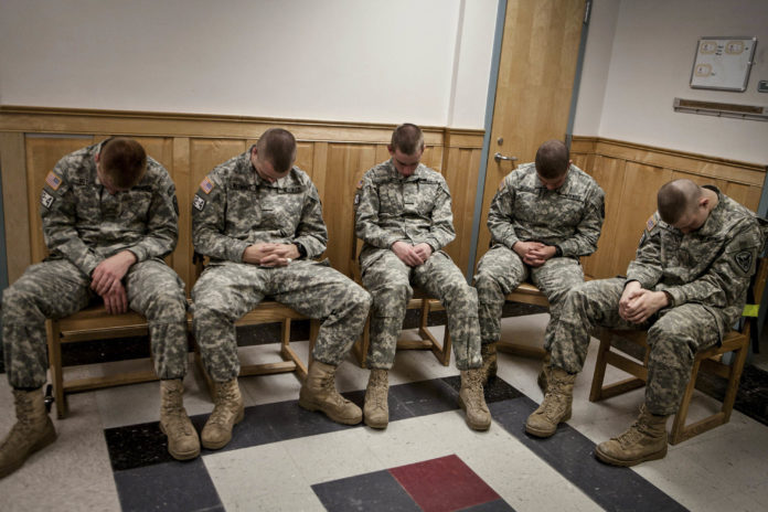 First-year recruits at Norwich University
