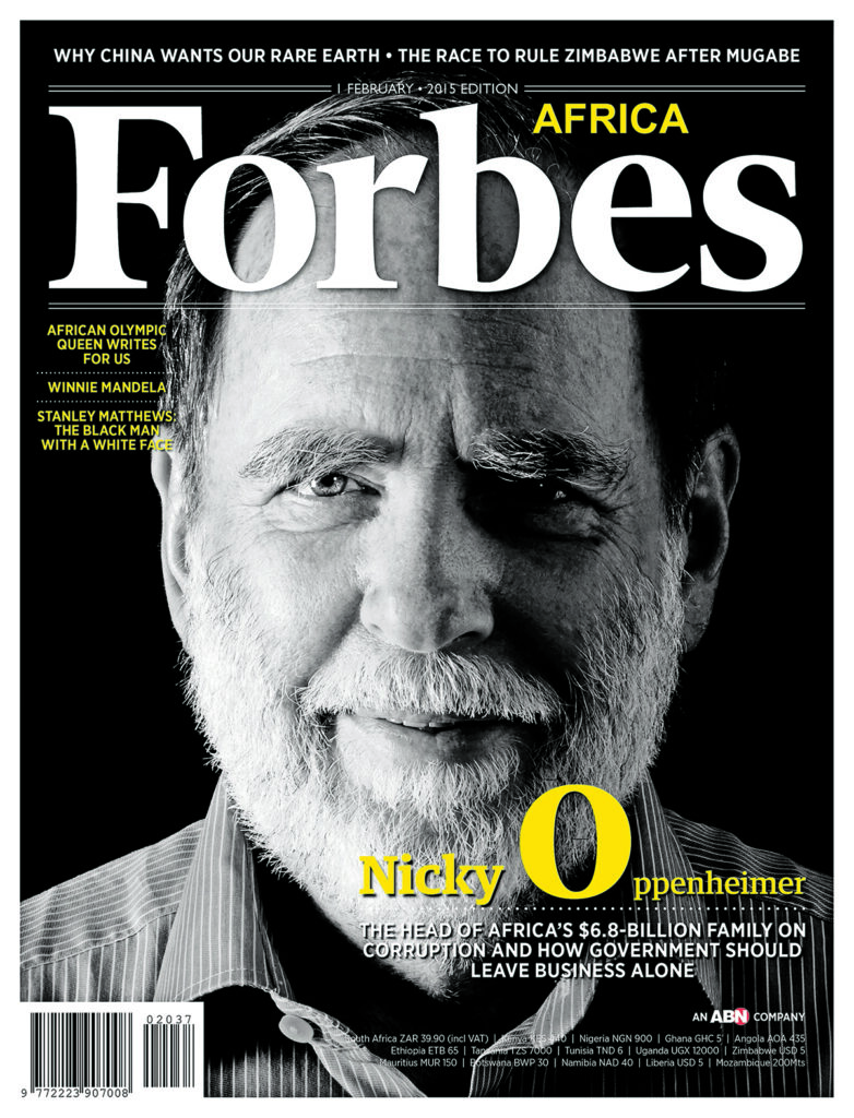 Nicky Oppenheimer and his son Jonathan have set up the South African Future Trust to help SMMEs survive the pandemic. (Forbes Africa)
