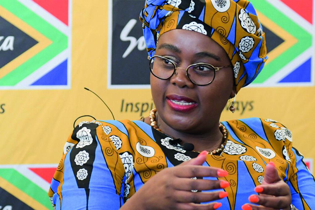 Minister of Tourism Mmamoloko Kubayi-Ngubane. (Jeffrey Abrahams)